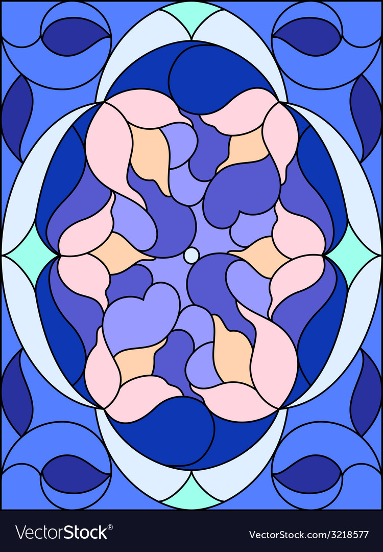 Stained glass window Floral pattern Composition of
