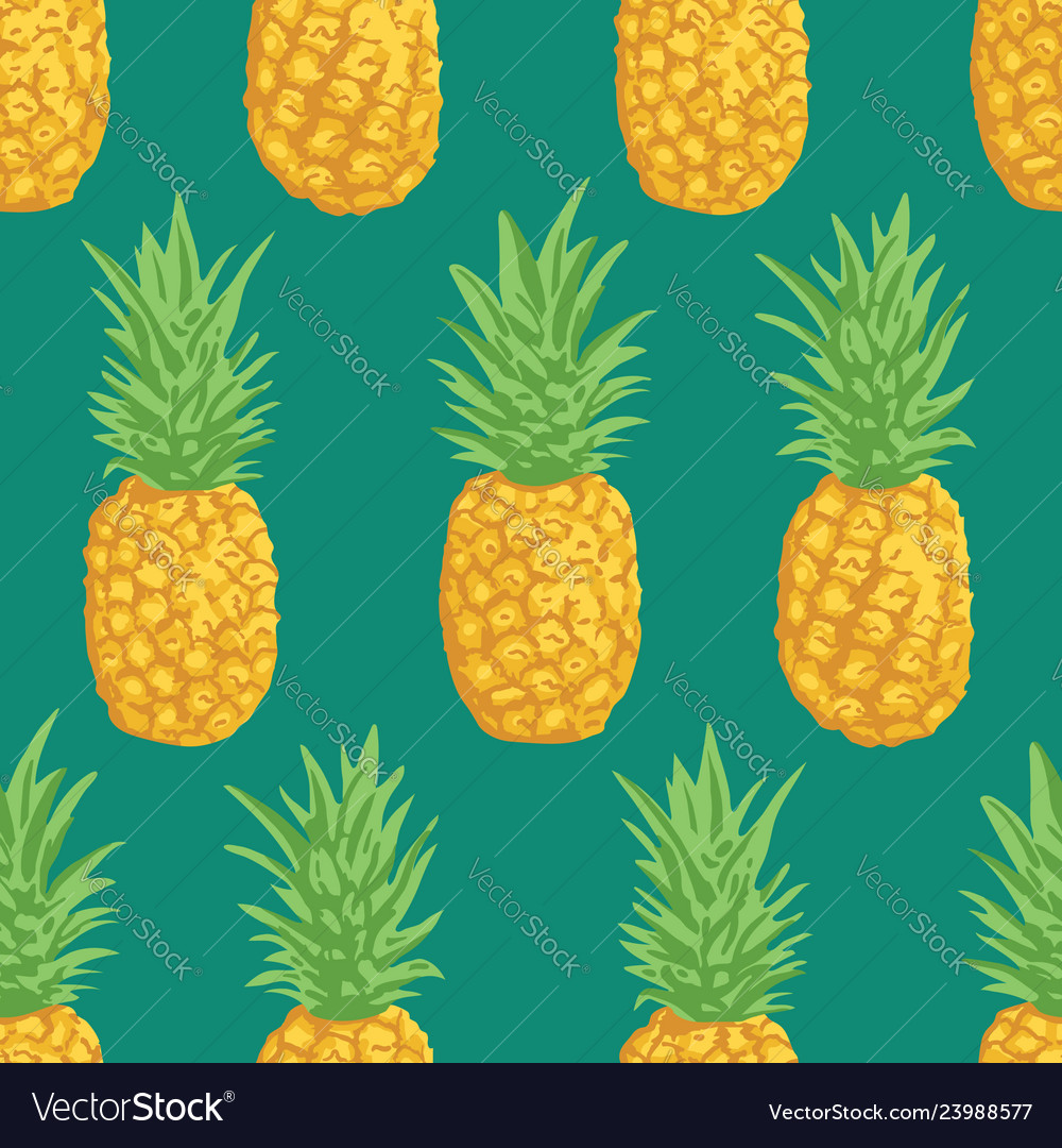 Summer pattern with pineapples seamless texture