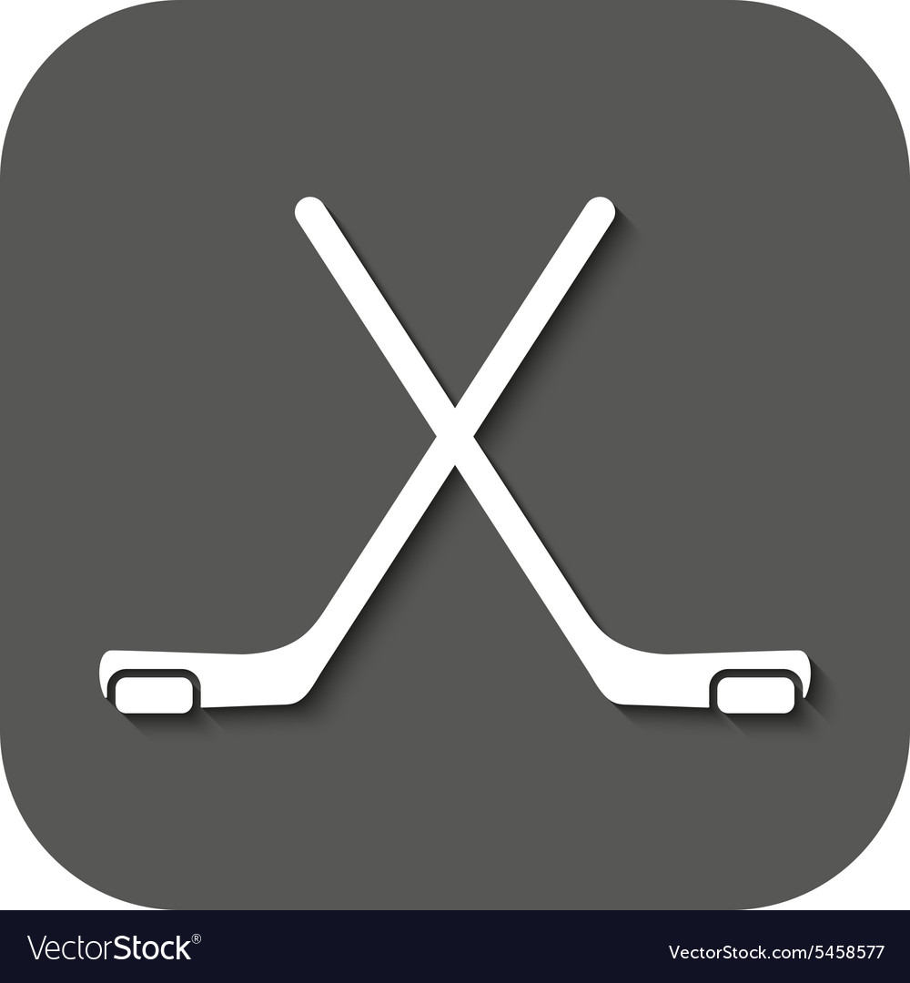 The hockey icon Game symbol Flat
