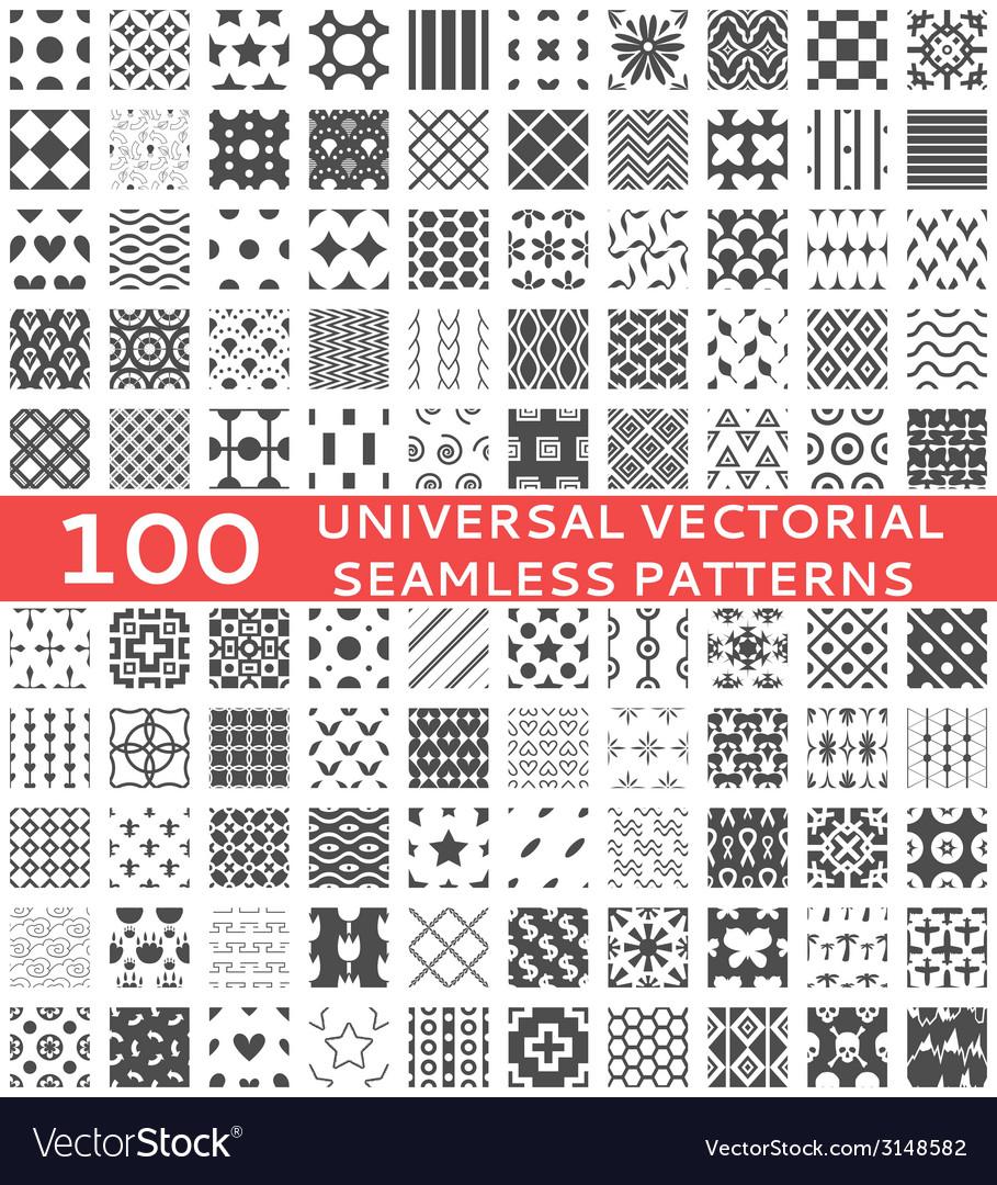 100 Universal different seamless patterns