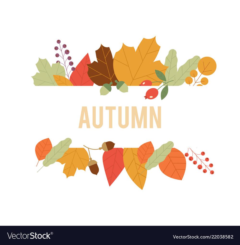 Autumn design in autumn composition