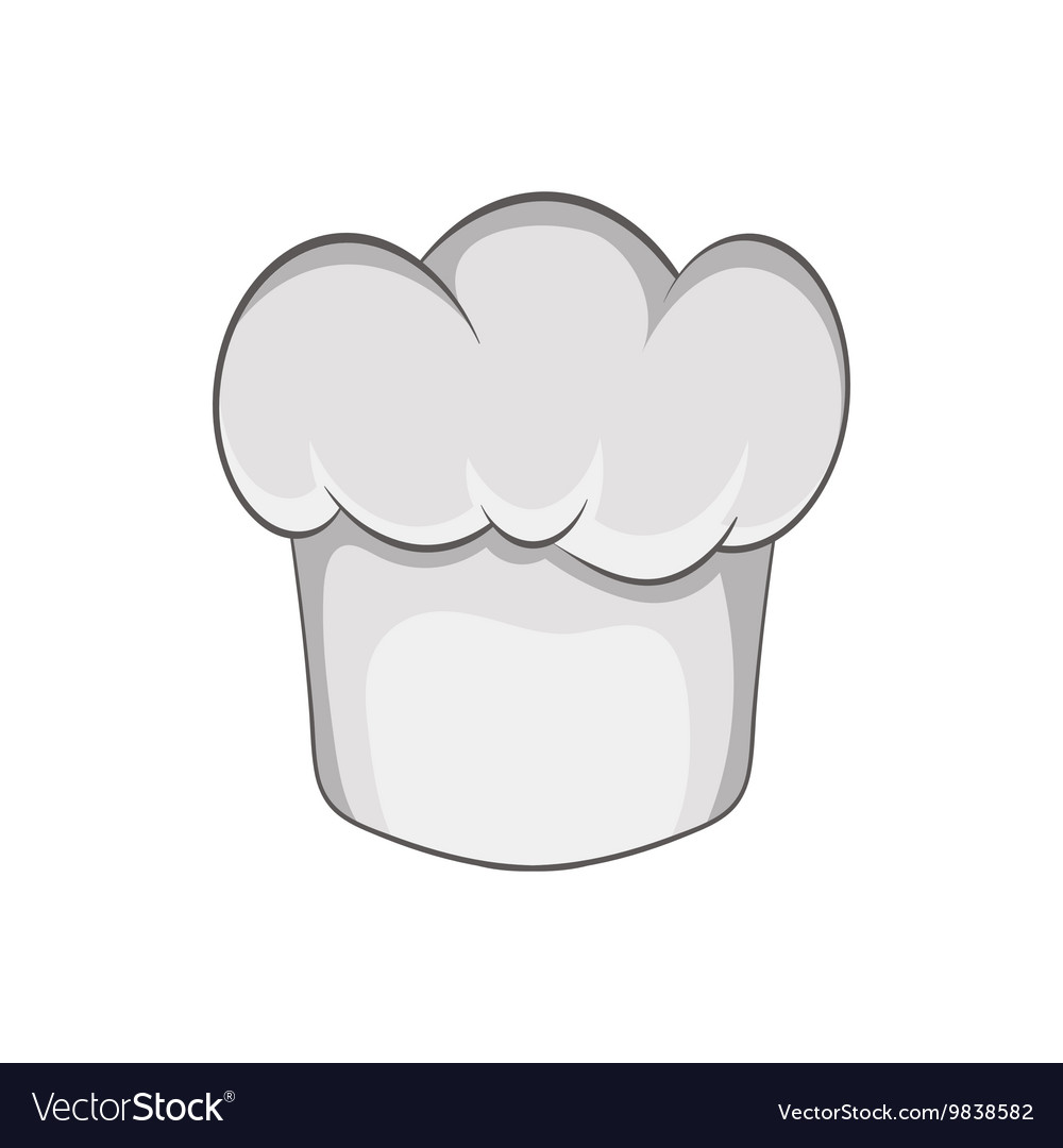 Chef hat icon in cartoon style