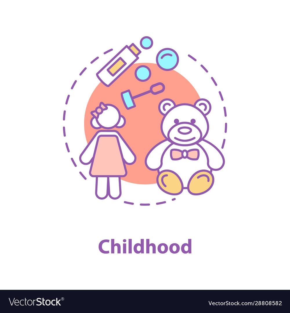 Childhood concept icon