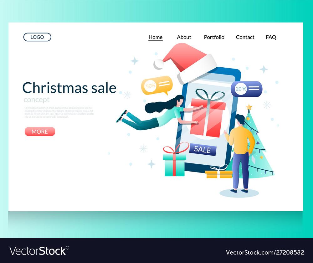 Christmas sale website landing page design
