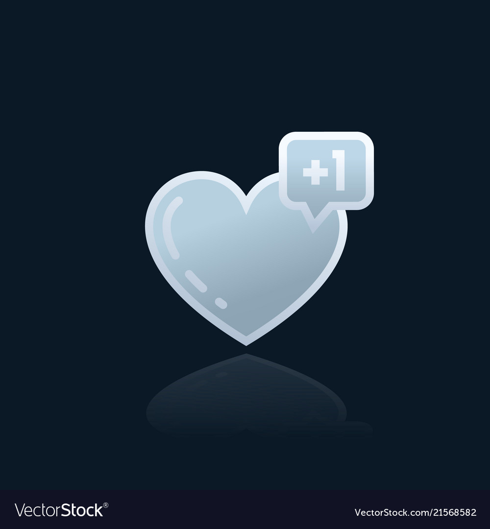 Heart like with notification icon