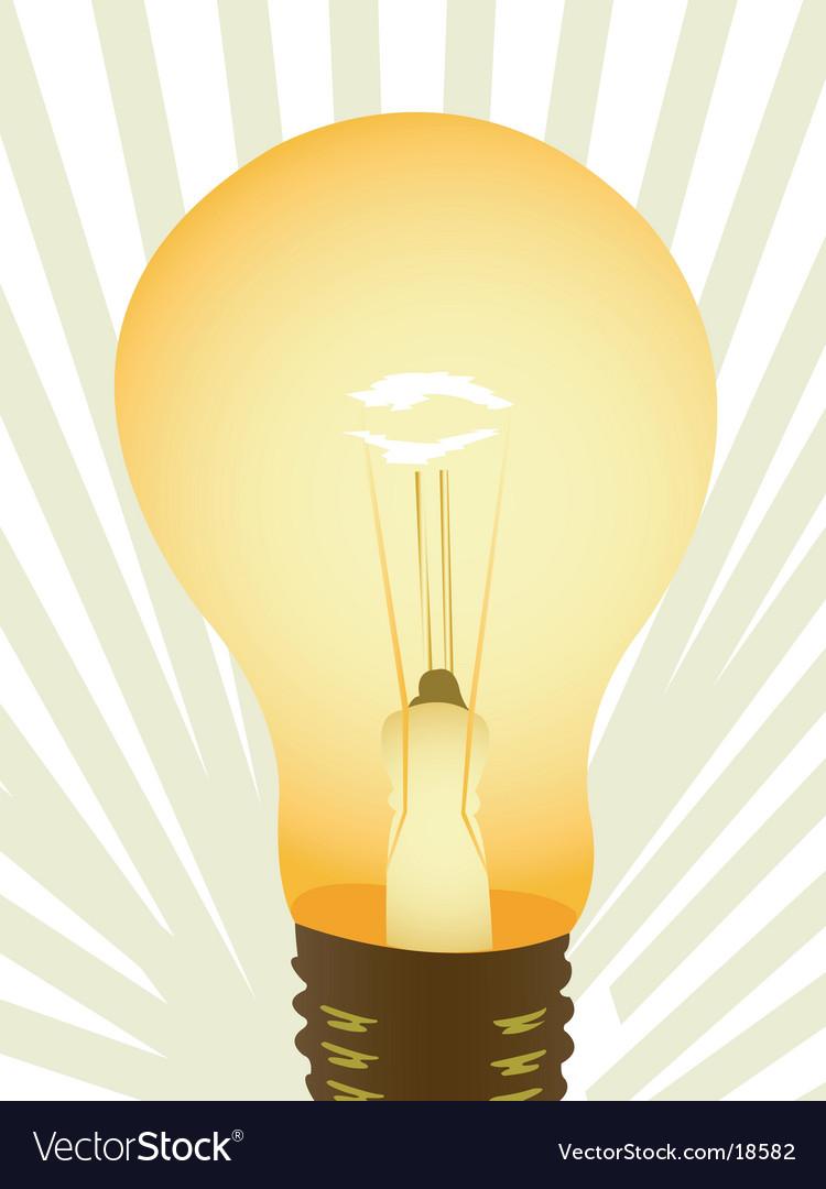 Light bulb illustration vector image