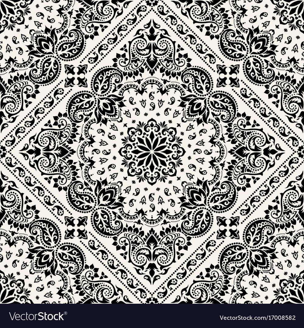 paisley bandana print royalty free vector image
