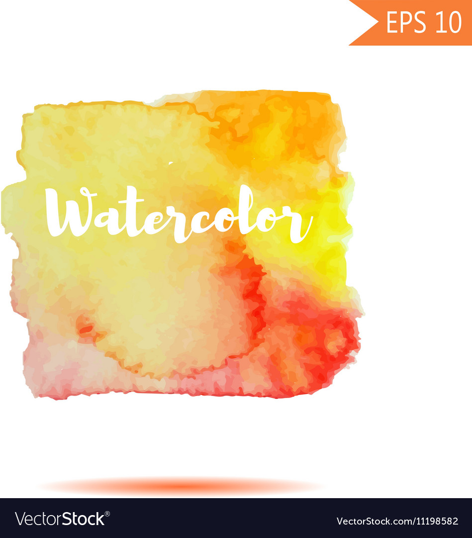 Watercolor-style spot