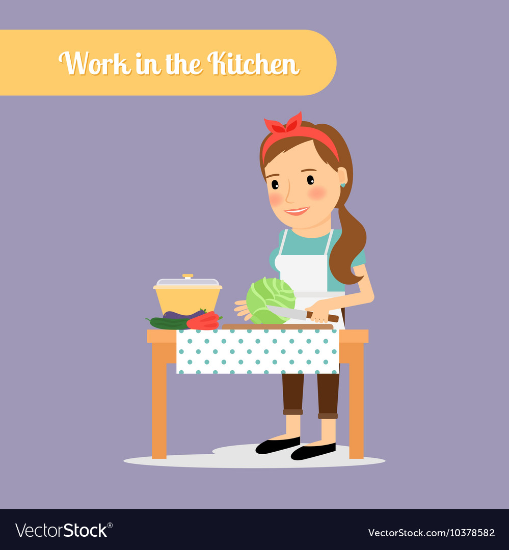 Woman work in the kitchen