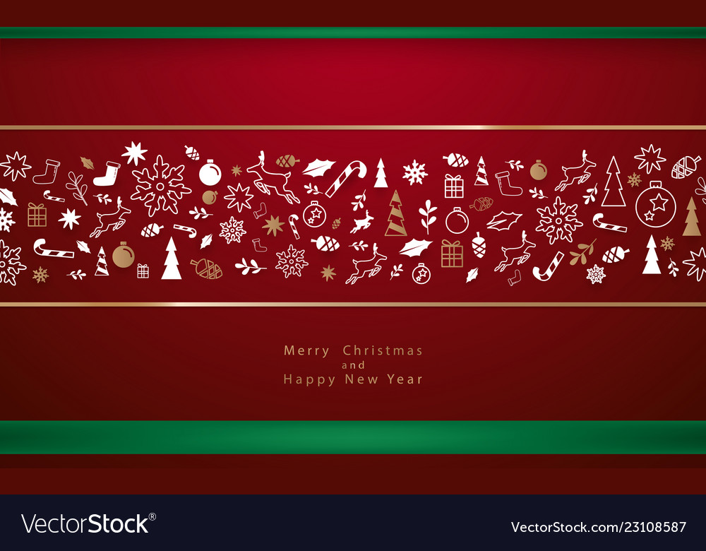 Christmas decorative winter elements background