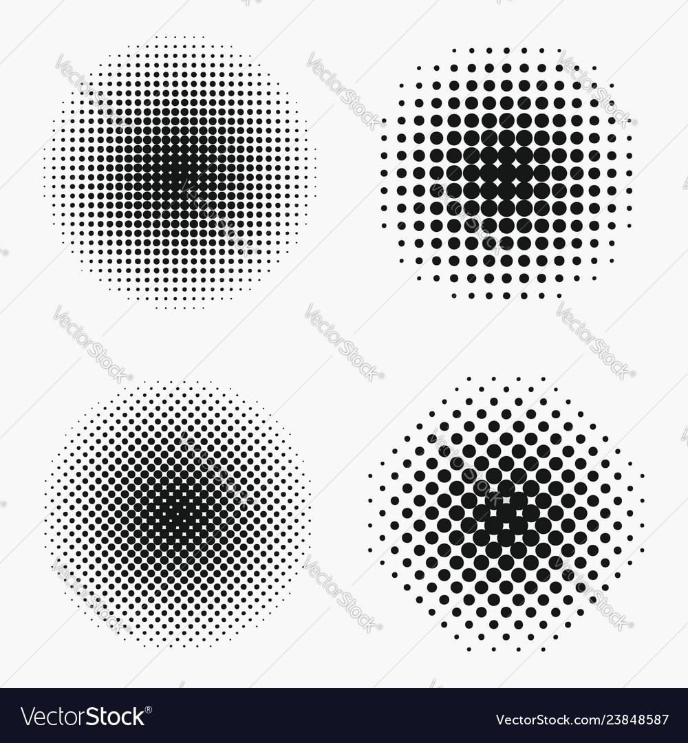 Circle halftone effects set
