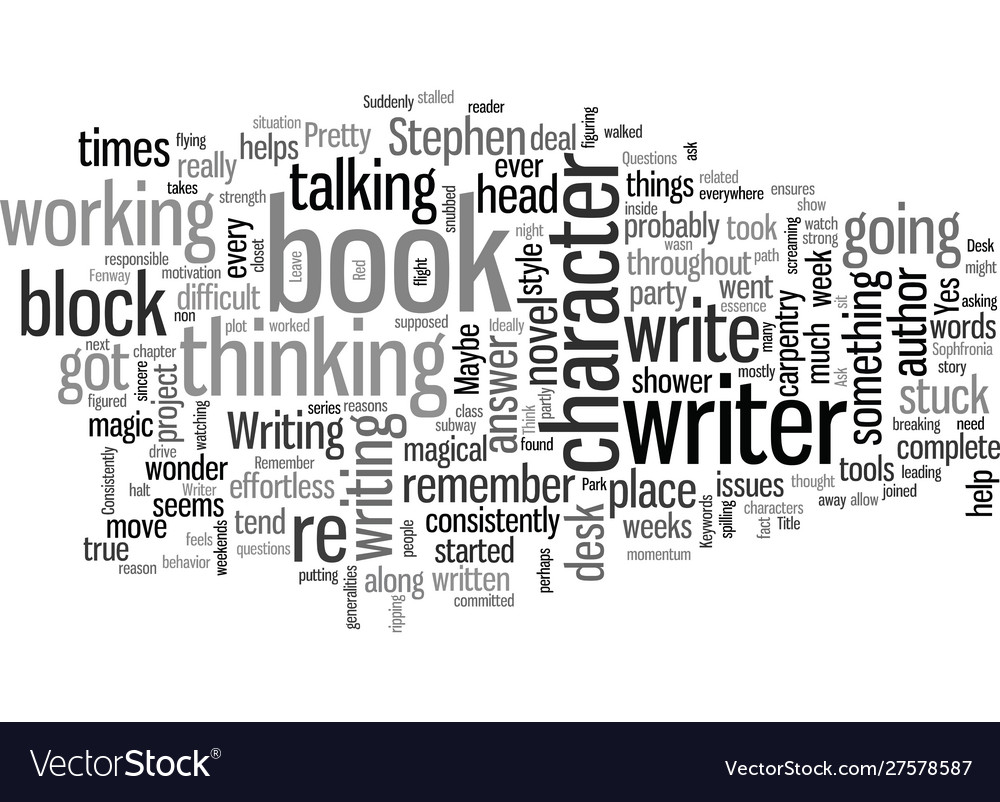 How to think through writer s block