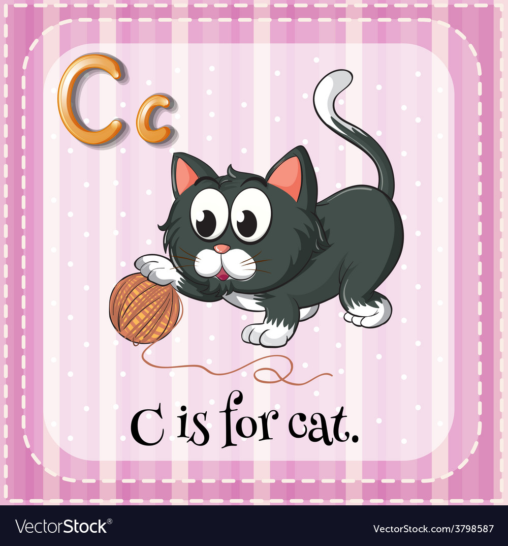Letter, C, For, Cat & Cartoon Vector Images (56)