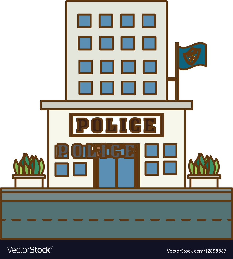 Police station icon image design