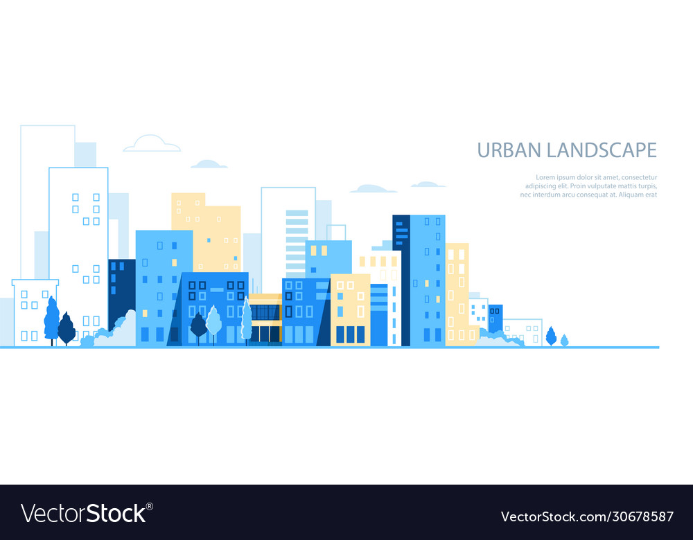 Urban landscape city skyline background