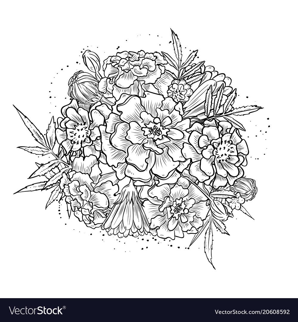 Abstract elegant vintage template with marigold vector image