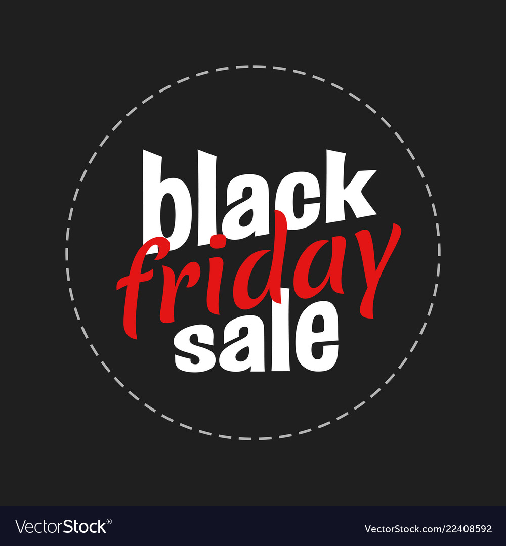 Black Friday Lettering Sign And Logo Royalty Free Vector