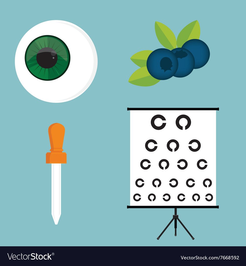 Ophthalmology icons set
