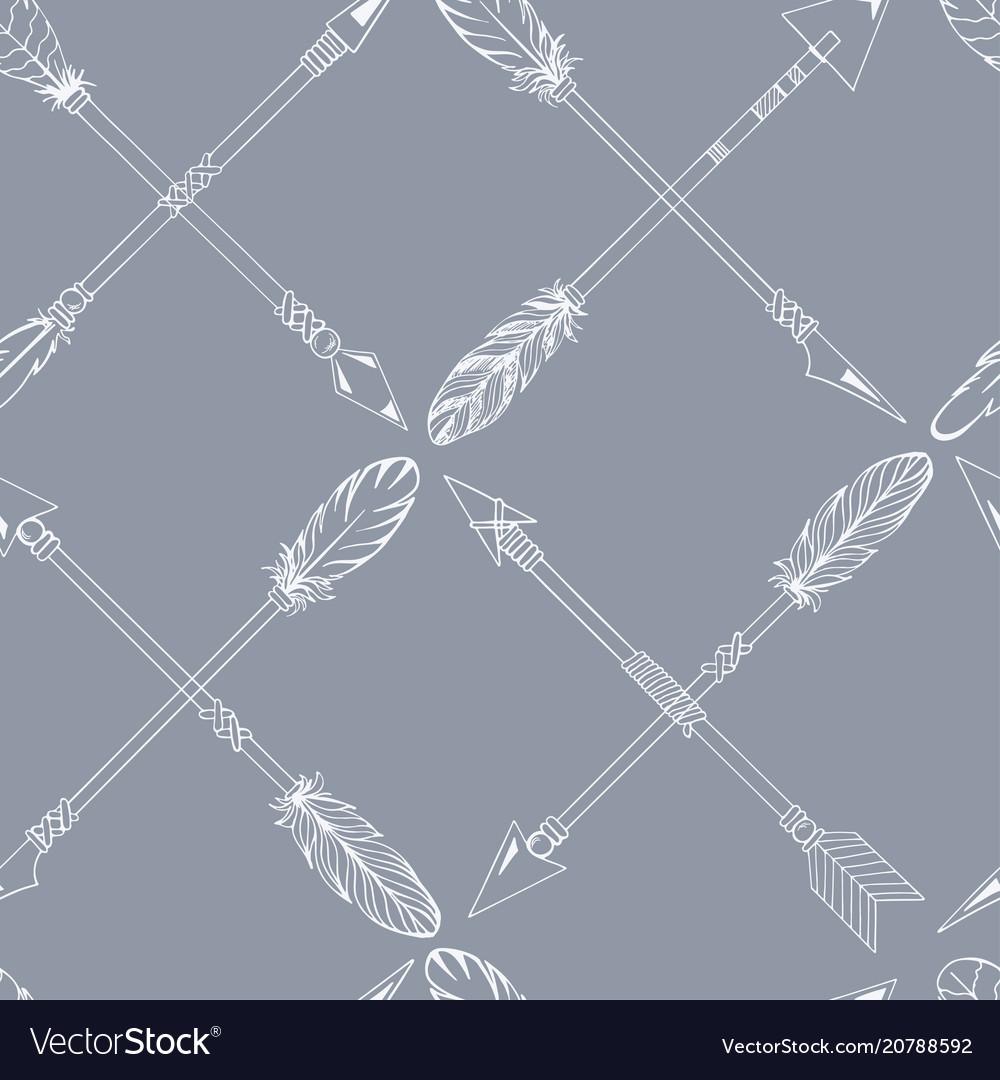Ribal indian seamless set of arrows