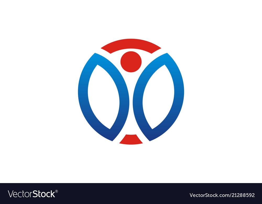 Round active people logo