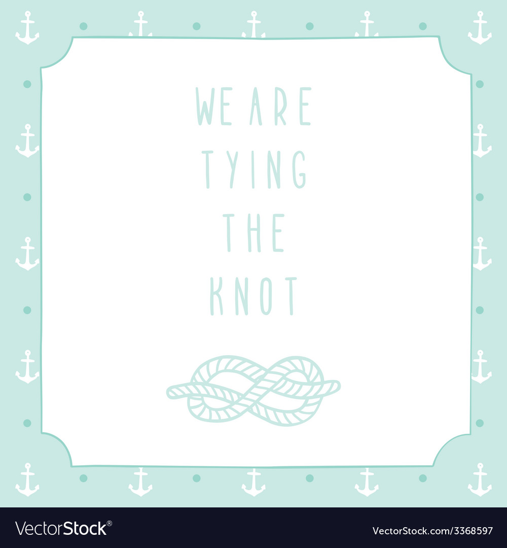 Anchor wedding invitation template