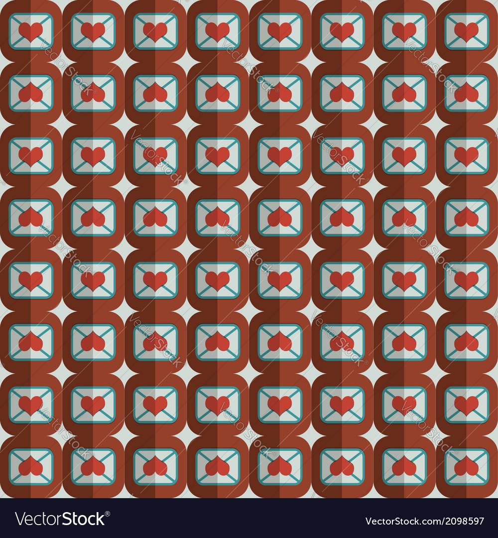 Decorative love heart symbols pattern