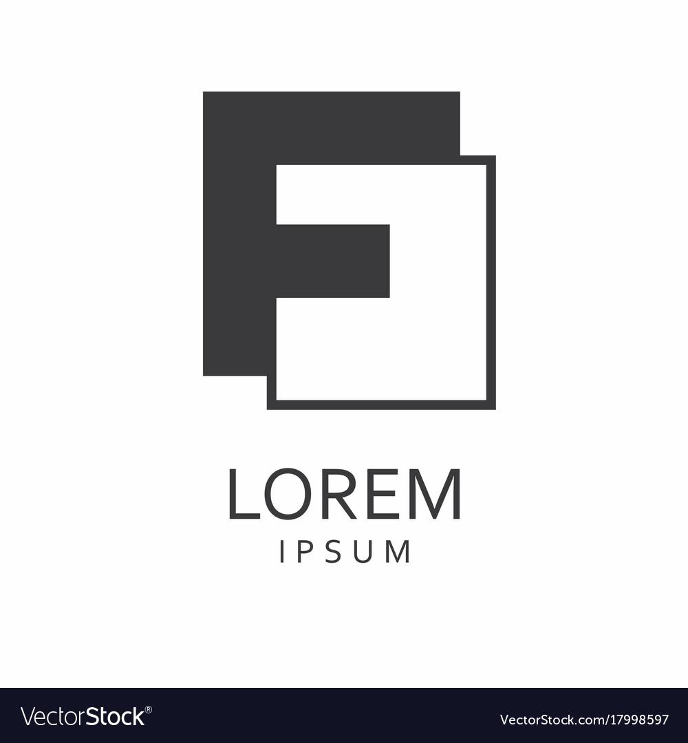 F letter logo icon