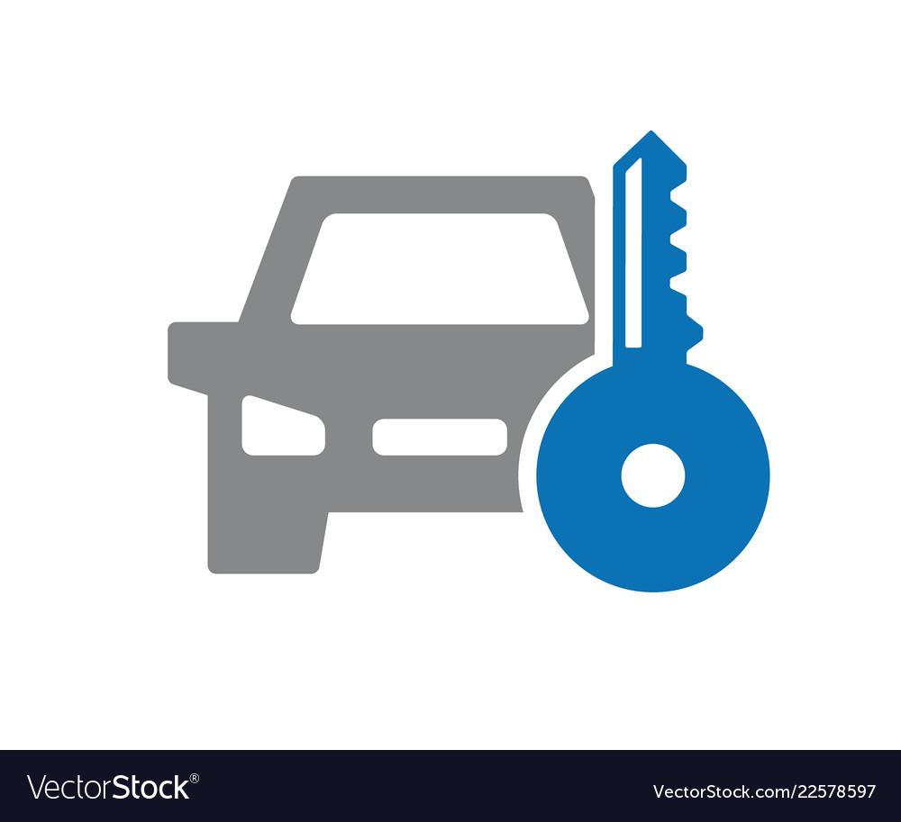 Key Car Icon Automobile Alarm System Royalty Free Vector