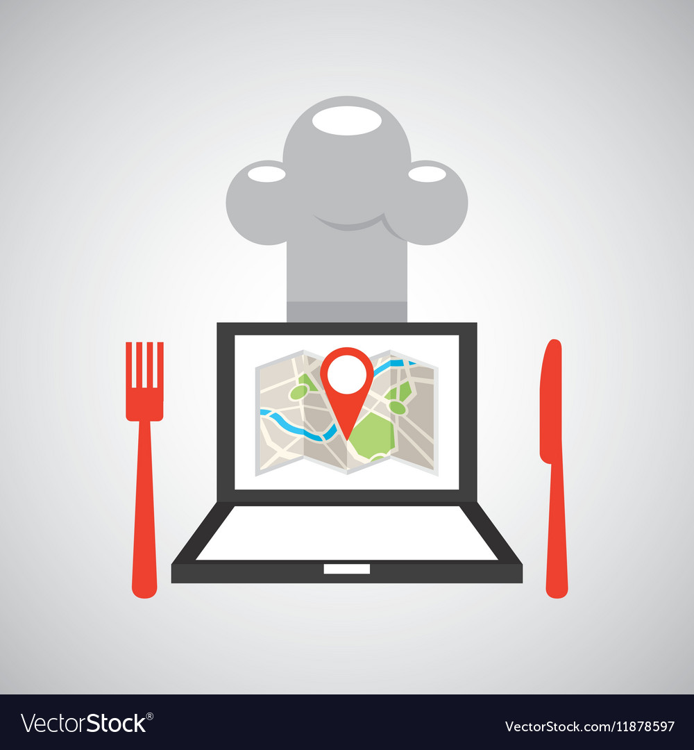 Laptop delivery food app