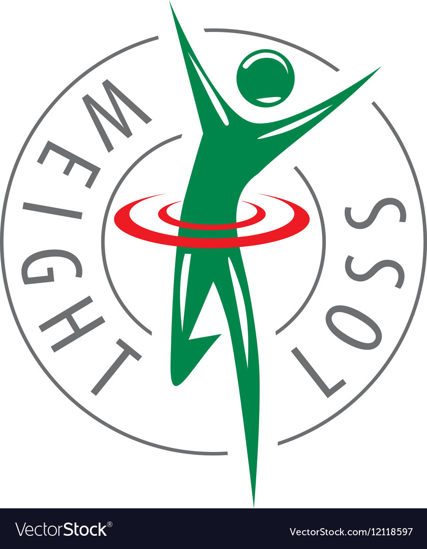 Logo running man for weight loss