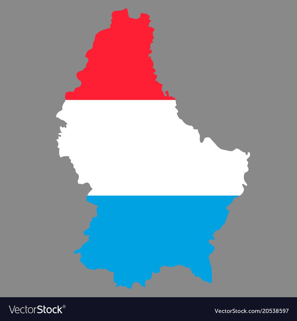 Silhouette country borders map of luxembourg on Vector Image