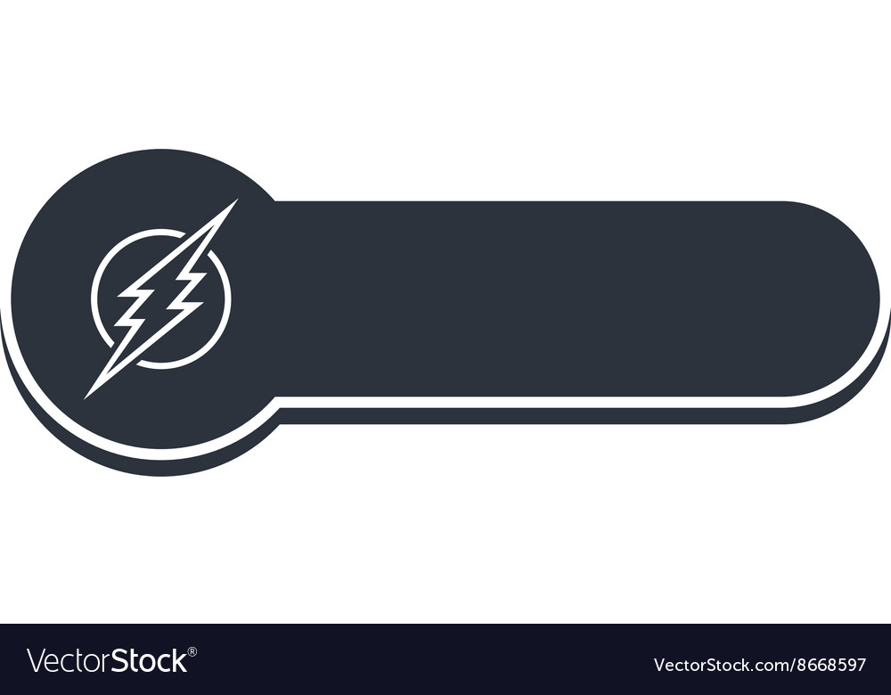 Thunder bolt banner template