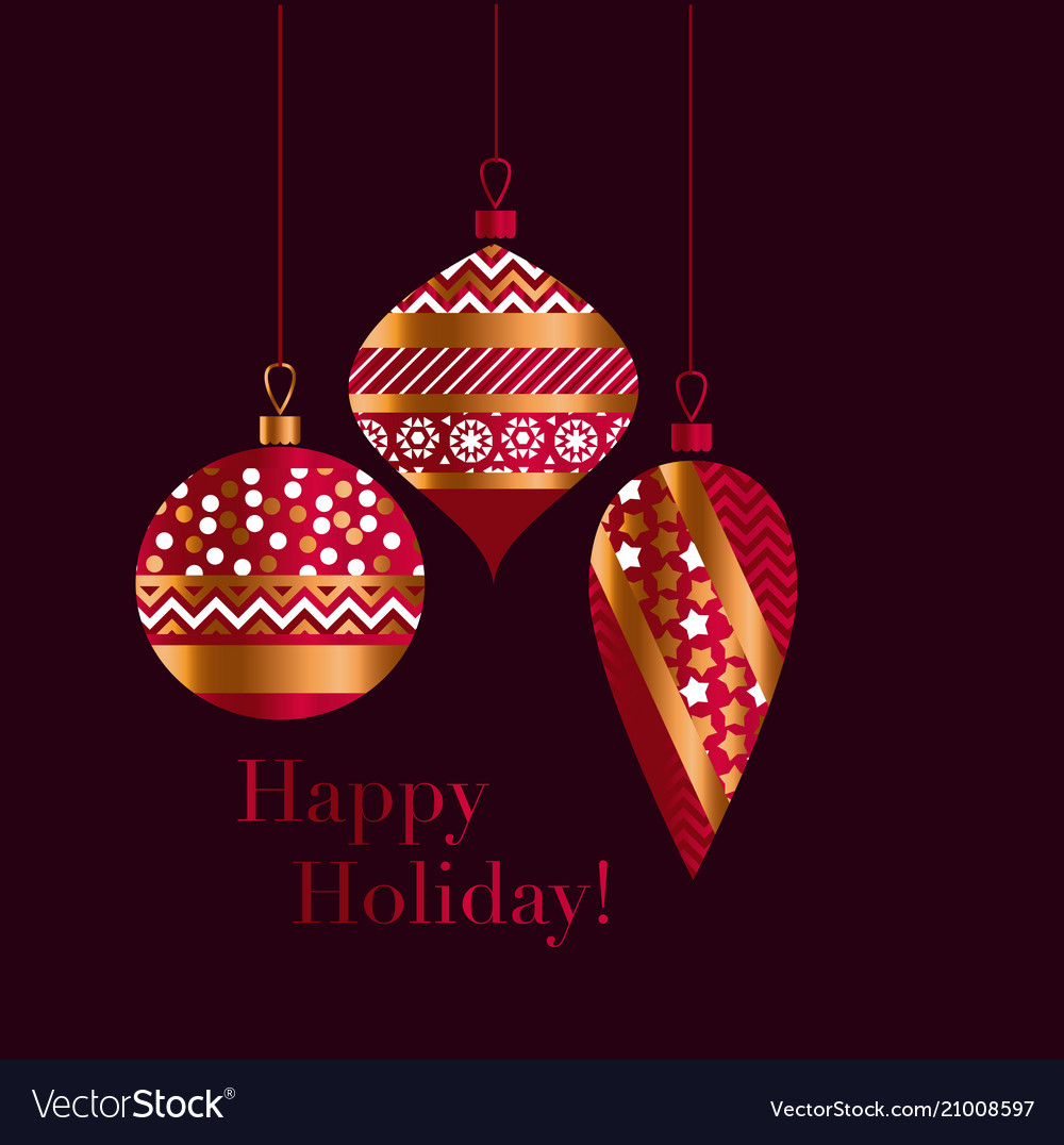 6c0205e92f21 Traditional red and gold xmas baubles Royalty Free Vector