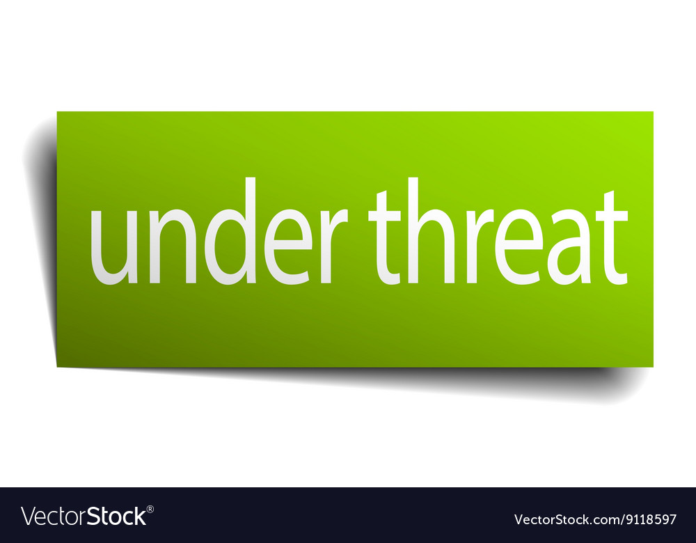 Under threat square paper sign isolated on white vector image