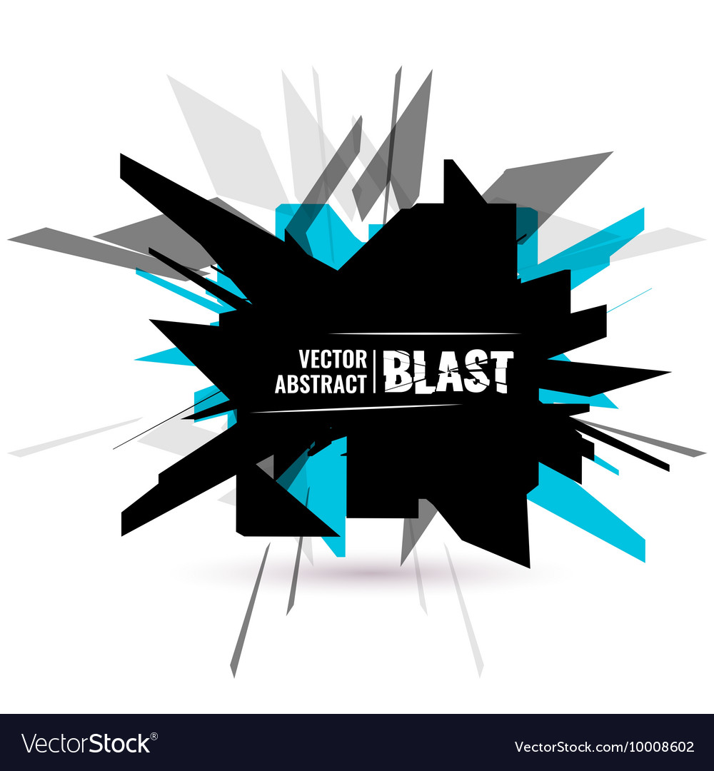 an abstract explosion royalty free vector image vectorstock