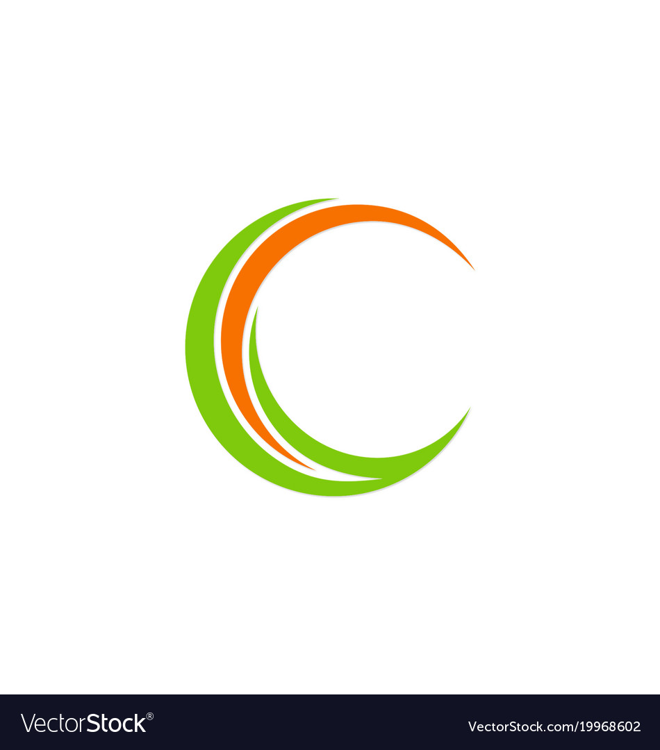 Circle Letter C Company Logo Royalty Free Vector Image