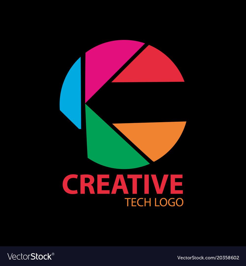 Creative tech logo vector image