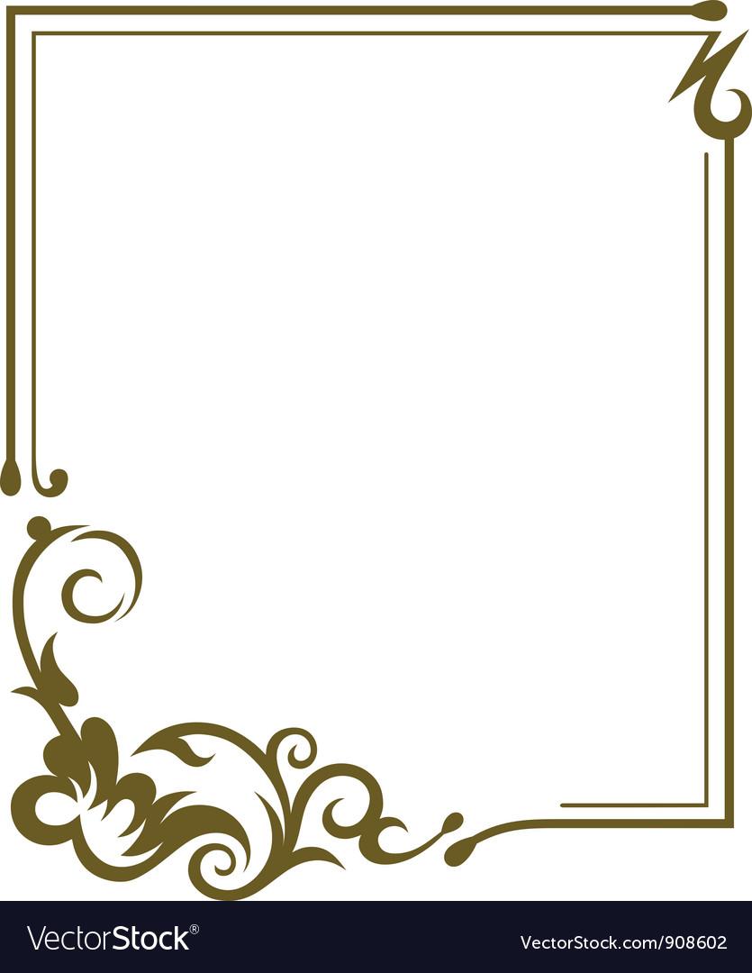 Frame design Royalty Free Vector Image - VectorStock