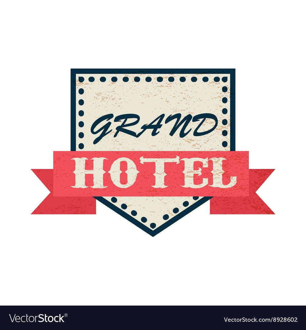 Grand hotel icon vintage style