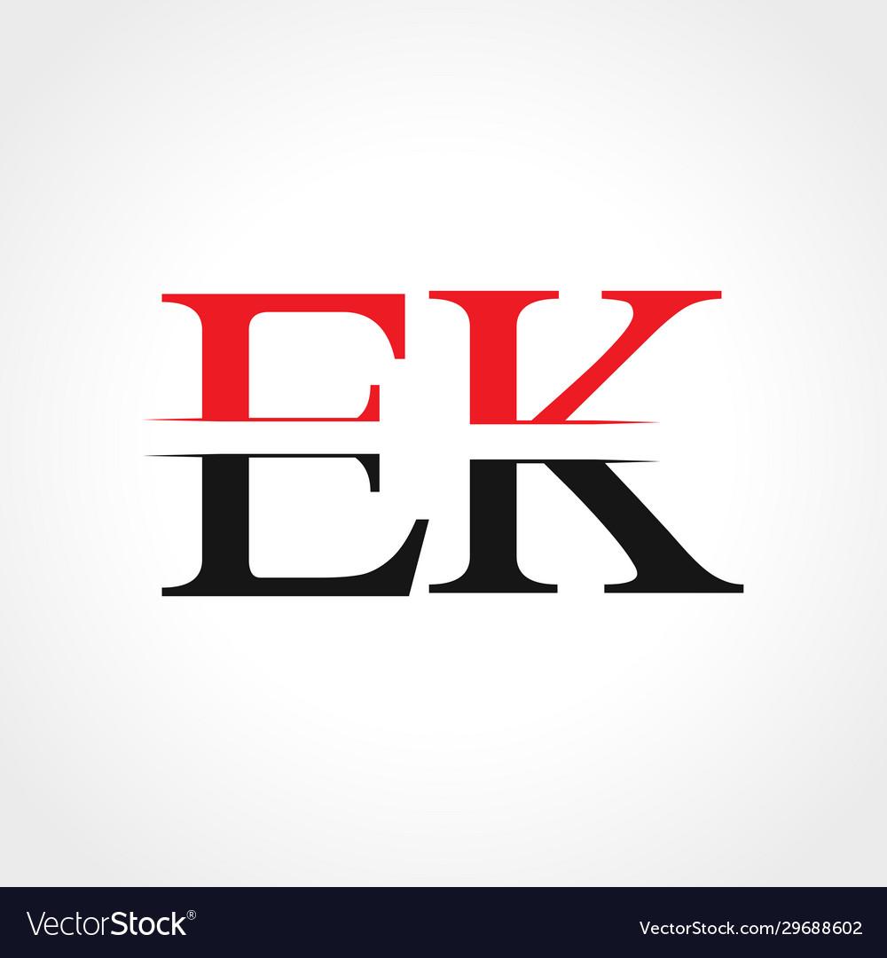 Initial ek letter linked logo business template