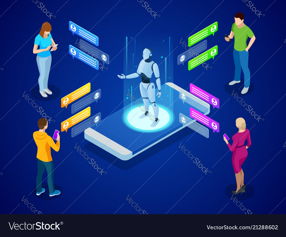 Isometric artificial intelligence ai and business