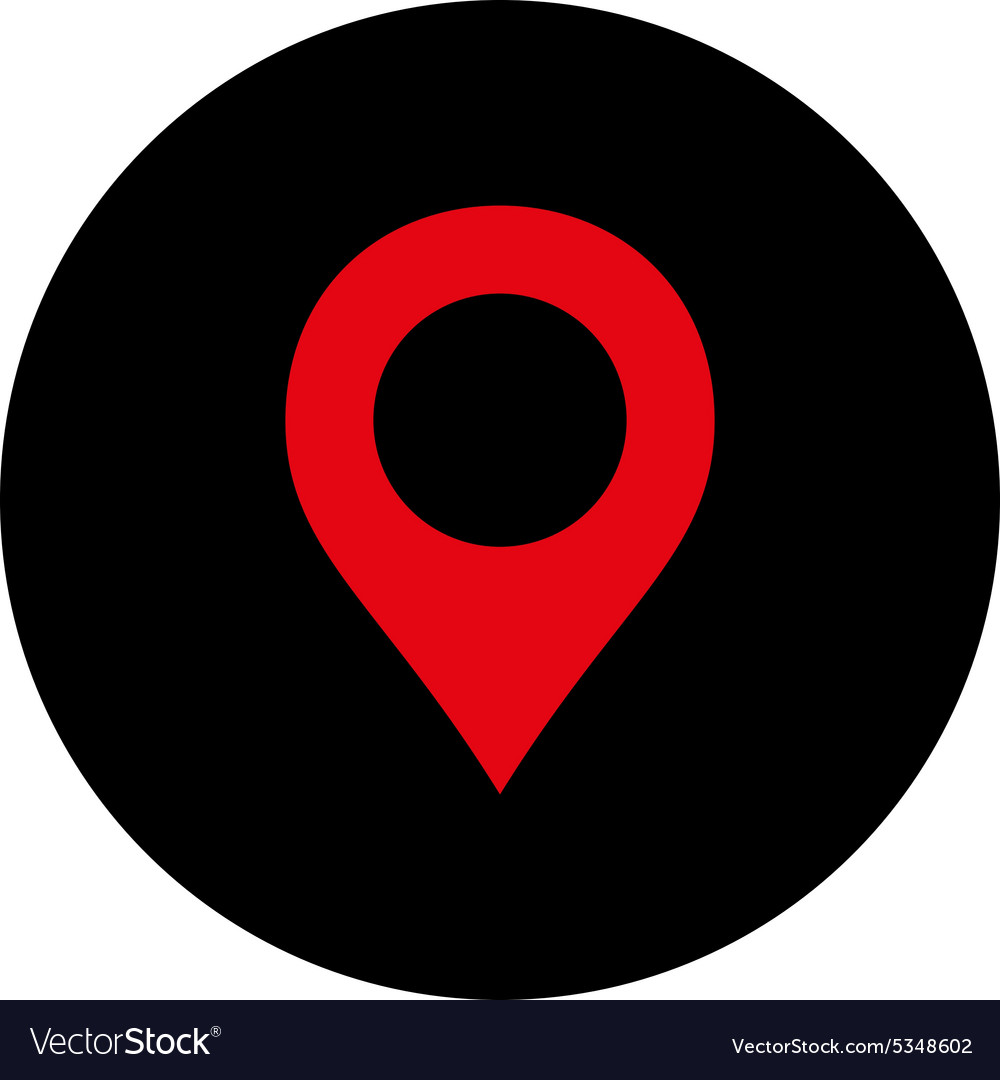 Map Marker flat intensive red and black colors