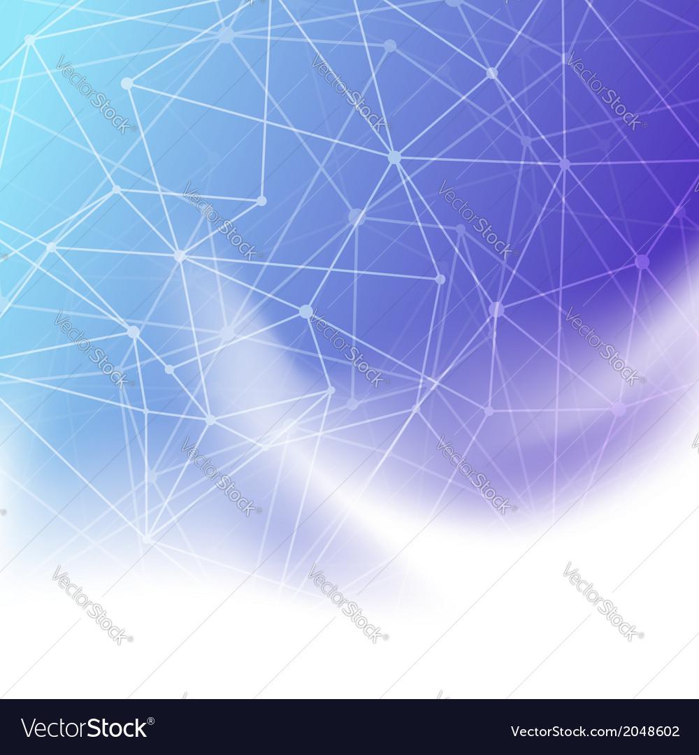 Molecule concept blue background template
