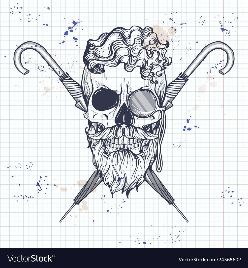 Sketch of british skull