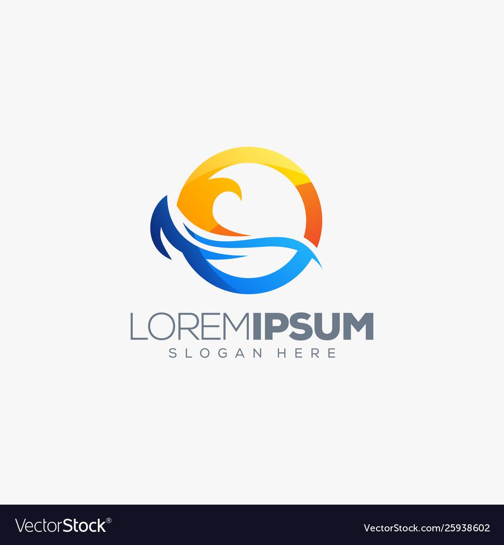 Summer wave logo design