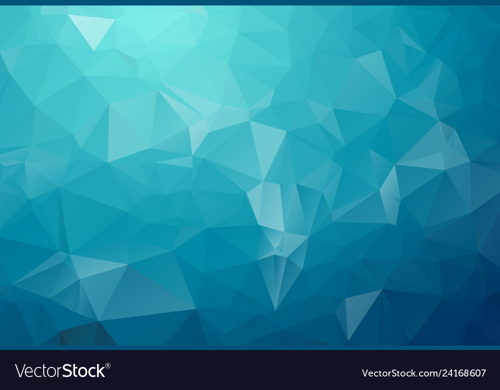 Blue light polygonal which consist of triangles