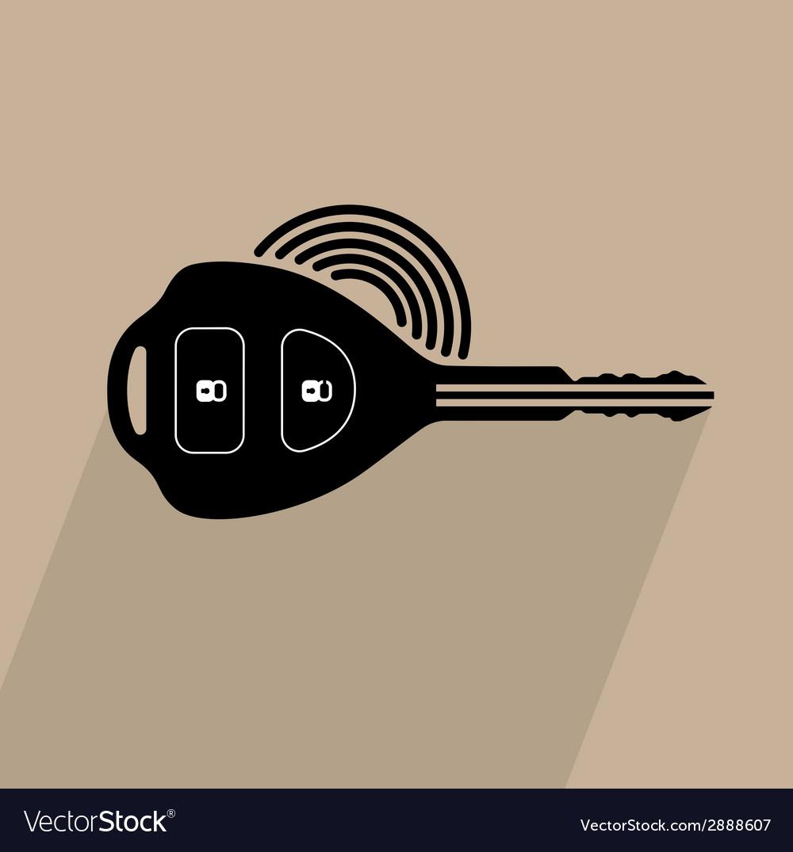 Car Remote Key Symbol Royalty Free Vector Image