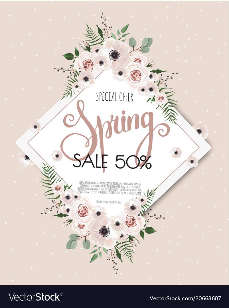 Floral design card greeting postcard