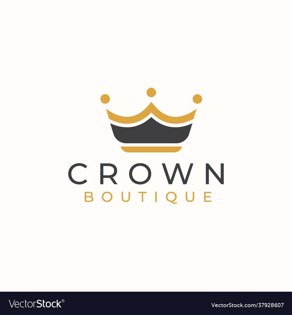 Golden crown logo template