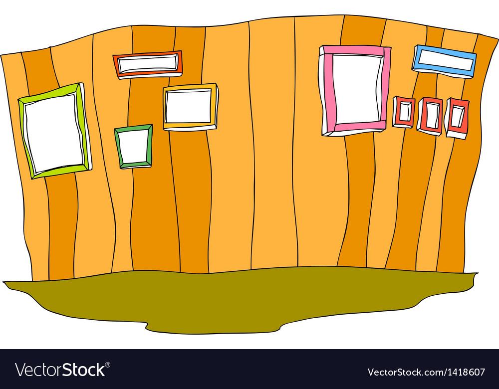 Home Hallway Wall vector image
